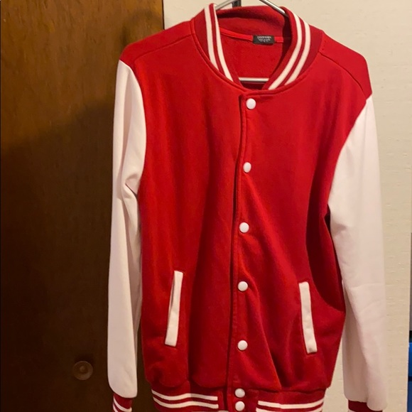 Red and White Varsity jacket